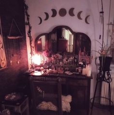 Witchy room gothic home decor gothic bedroom witch cottage great goth home decor 43 on home design styles interior ideas with goth home decor ptenchiki Decoration Design, Deco Design, Design Design, Design Ideas, House Design, My New Room, My Room, Goth Home Decor, Gothic Bedroom Decor