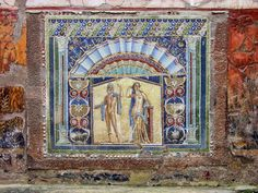 Detail of a mosaic on a water feature in a house at the excavations of Herculaneum near Naples in Italy. Book Tours in Naples, Pompei and Herculaneum at GetYourGuide. Pompeii And Herculaneum, Roman City, Ancient Mysteries, Southern Italy, Archaeological Site, Ancient Rome, Amalfi Coast, Archaeology, Mosaic