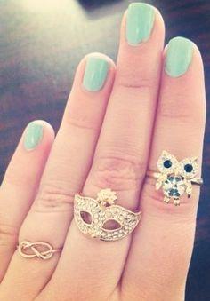 Our 'Delicate Infinity', 'Crystal Owl', and 'Sparkling Masquerade' rings! Rare Unique Diamonds Only at Capri Jewelers Arizona ~ www.caprijewelersaz.com