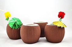 Coconut Cocktail Mugs Set of 4