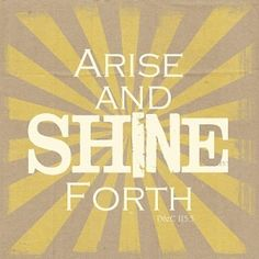 """TONS of ideas for """"Arise and Shine Forth"""" by regina"""