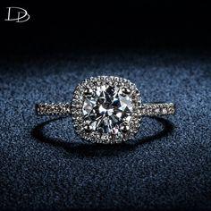 Vintage quadratische weiße 585 gold überzogene ringe für frauen schmuck verlobung Hochzeit luxus CZ diamant-ring bijoux bague aneis DD035