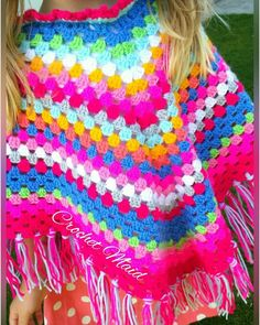 Childs poncho by Crochet Maid