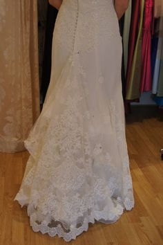 Bustle french bustle and lace mermaid wedding dress on pinterest