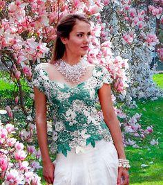Irish crochet top Magnolia by Martinesknite on Etsy