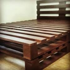 Image result for cama de casal de pallet