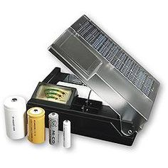 Universal Solar Powered Battery Charger - C. Crane Company (800) 522-8863...great reviews on amazon....would be a great power down addition...