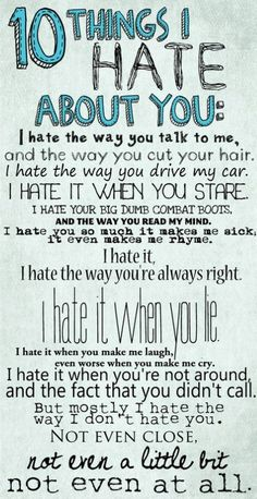 10 Things I Hate About You (oh the 90s...)