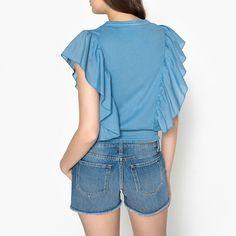 Tee shirt tabata bleu denim Leon And Harper | La Redoute