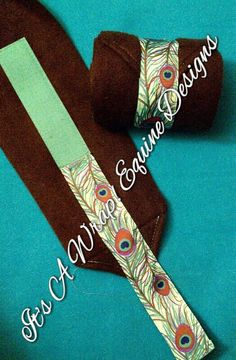 Peacock  Ribbon Trimmed Polos by ItsAWrapEquine on Etsy, $16.00