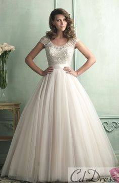 This is actually really cute. A little old fashioned, but still a beautiful wedding dress.