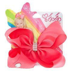JoJo Siwa Small Rhinestone Keeper Hot Pink Hair Bow   @giftryapp