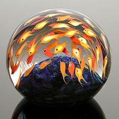 caught up in the flow - school of fish bead #cool art for the home