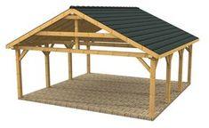 Wooden Carports and Garages | Wood Frame Carport Designs