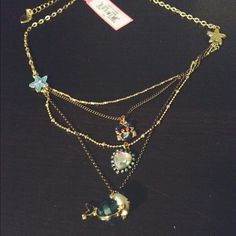 NWT Betsey Johnson tiered necklace sea themed NWT Betsey Johnson tiered necklace sea themed. Star fish, jeweled heart, crab, and fish. New with tags. Authentic Betsey Johnson. Purchased for 58$. Would be so cute for summer Betsey Johnson Jewelry Necklaces