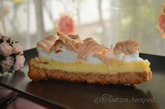 Marshmallow Cake, Meringue Cake, Dessert Recipes, Desserts, Delicious Food, Food Photography, Juice, Lemon, Milk