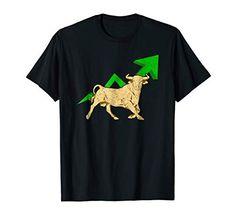 Fashion: Bull Market Stock Trader T-Shirt Gift - Financializer Store Stock Trader, Stock Market, Charts, Passion, Marketing, Luxury, Store, Mens Tops, T Shirt