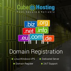 #CubeHosting Provides the best #Domain #Registration services to worldwide users - https://goo.gl/c24zf4