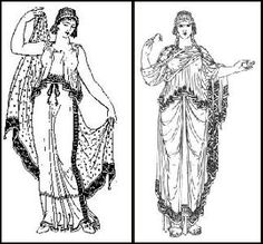 ancient greek clothing for women -