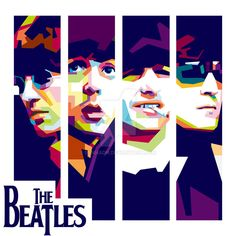 The Beatles WPAP by bennadn on DeviantArt Foto Beatles, Beatles Poster, Les Beatles, Beatles Art, Image Club, Music Collage, Laser Art, Pop Art Portraits, Rock Posters
