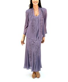 Look at this Orchid Embellished Sweetheart Dress & Jacket - Women on #zulily today!