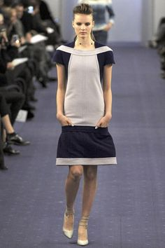 crosswise collar. great idea for square necklines... chanel