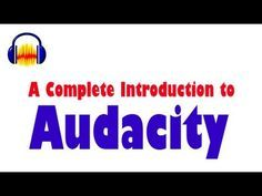 """Learn how to record, edit and mix audio in this tutorial about Audacity. Watch this video for more help if you have problems. Never use the """"Pause Button!"""""""