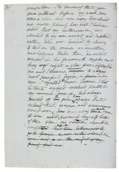 Frankenstein, a page from Mary Shelley's first draft from her Geneva notebook