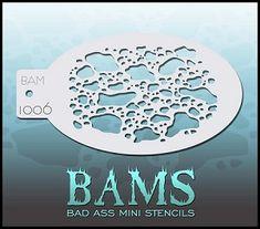 "Bad Ass Mini Stencils - Blotchy -  3.5"" x 5"" (BAM1006) $4.00"