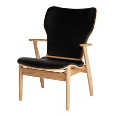 Domus Oak Leather Lounge Chair