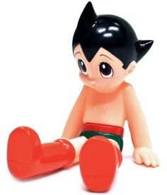 Astro Boy - Soft Sit Atom (ソフビ おすわりアトム) figure, produced by Denboku (デンボク).