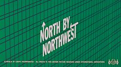 North By Northwest; opening credits - very cool graphics by Sal Bass