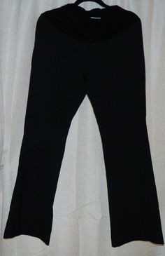 Designer A Pea In The Pod Black Dress Pants Stretch Full Cover Belly S #APeaInThePod #CasualPants