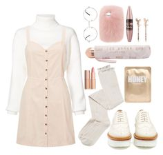 """Pale autumn"" by claudiaflowers ❤ liked on Polyvore featuring Alexandre Vauthier, Miss Selfridge, Intimately Free People, Tod's, Lapcos, Ted Baker, Nasty Gal, Maybelline and LC Lauren Conrad"