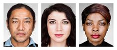 New York, New York, 2016: New Americans: Portraits of refugees who have recently resettled in the United States as part of the U.S. Refugee Admissions Program. From left to right: Bhimal, 42, Bhutan; Maryna, 27, Belarus; Patricia, 22, Democratic Republic of the Congo. ©Martin Schoeller. Newseum in Washington, D.C., USA: 'REFUGEE' Exhibit, Images Illuminating Global Plight of the Displaced: Nov. 18, 2016 – March 12, 2017 http://www.photoxels.com/newseum-refugee-exhibit/