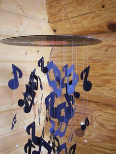 Vinyl Record Music Note Mobile by MobileMadness on Etsy, $75.00