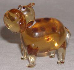 Fitz Floyd Glass Menagerie Blown Glass Figurine Happy Hippo Glass Figurines, Blown Glass, Christmas Bulbs, Holiday Decor, Happy, Ebay, Christmas Light Bulbs, Ser Feliz, Being Happy
