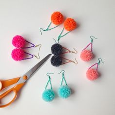 What a lovely day! Pom poms in the making. ☺️