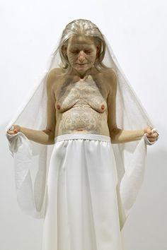 sam jinks Tattooed Woman , 2007 90cm silicon, paint & human hair