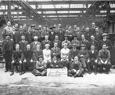 Beardmore's Howitzer Dept Parkhead Glasgow. They manufactured 800 6inch guns for the British Army.