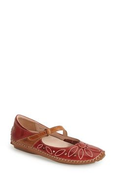 PIKOLINOS 'Jerez' Leather Mary Jane Flat (Women) available at #Nordstrom