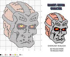 Horror Heads #2- Jason X plastic canvas pattern by Michael Kramer