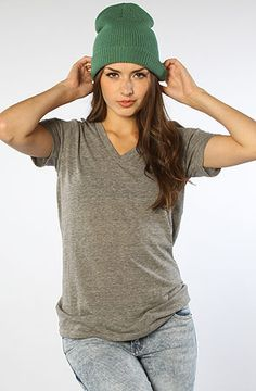 Alternative Apparel The Boss VNeck Tee in Eco Gray : MissKL.com - Cutting Edge Women's Fashion, Accessories and Shoes. #MissKL #WinYourPin