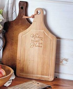 Bamboo Sentiment Cutting Board is a functional item that adds an uplifting saying to your kitchen. Made of durable bamboo, it features a sentiment etched in mix