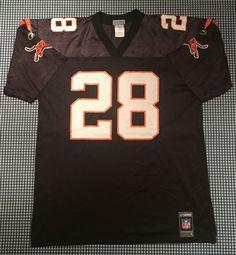 b2b6d9149 Corey Dillon Cincinnati Bengals Replica Jersey Size Large Black Reebok NFL  Cincy