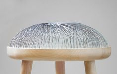 Dome - Stool by Toer with a steel cushion! #furniture #materials
