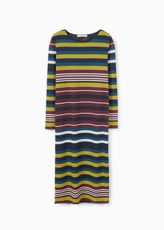 Stripe textured dress | MANGO