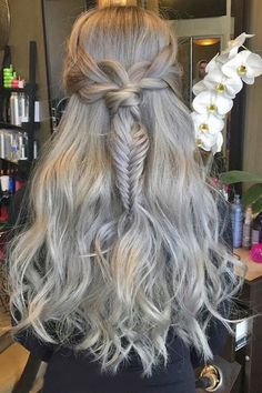 long braided wedding hairstyle ideas via theconfessionsofahairstylist | Deer Pearl Flowers