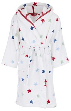 The Little White Company White Circus Star Velour Robe | Christmas | AlexandAlexa
