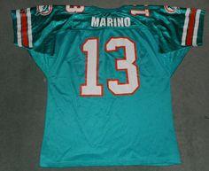 Men's Vintage Green & White MIAMI DOLPHINS #13 DAN MARINO NFL Jersey, Size XL #WILSON #MiamiDolphins